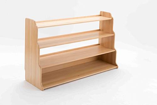 Child Shelf Unit Closed 3 Bays in Beech Wood - Child Shelf Unit Closed 3 Bays in Beech Wood