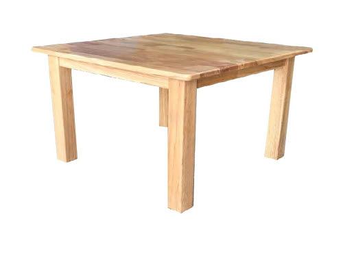 Montessori Classic Square Timber Table 40H - Rubber Tree Wood - Montessori Classic Square Timber Table 40H - Rubber Tree Wood