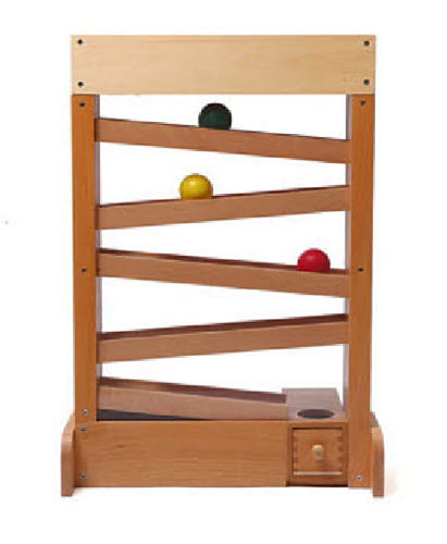The Mega Ball Tracker with 3 Balls in Quality Beech Wood - The Mega Ball Tracker with 3 Balls in Quality Beech Wood