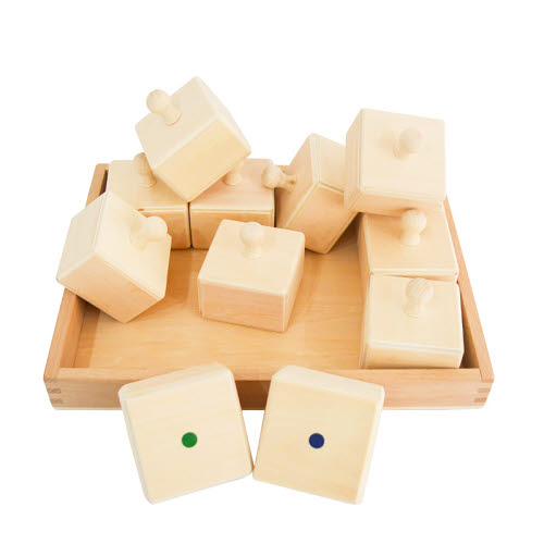 Sensory Sound Boxes with Tray in Natural Timber - Sensory Sound Boxes with Tray in Natural Timber