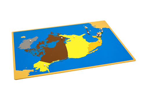 Puzzle Map Of North America - Factory Seconds - Puzzle Map Of North America