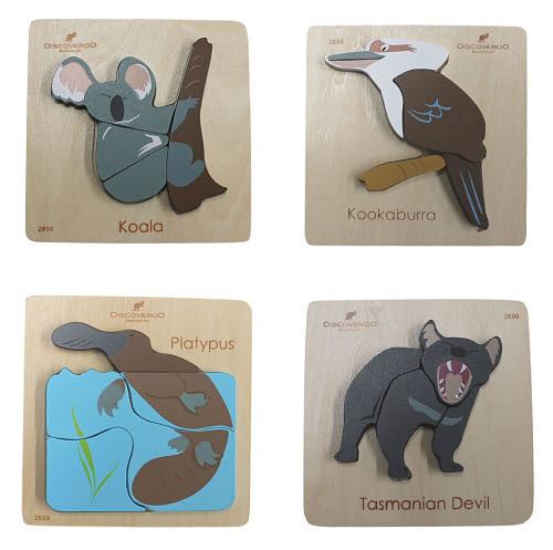 Chunky Puzzle Aussie Animal Set - Chunky Puzzle Aussie Animal Set