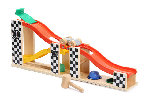 2 In 1 Racing Track & Pounding - 2 In 1 Racing Track & Pounding