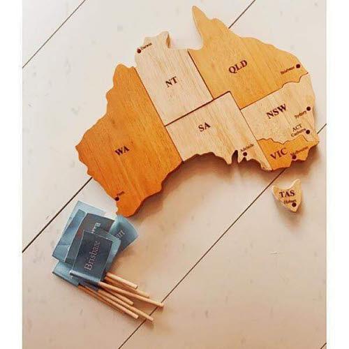 Australian Map Puzzle Set - Australian Map Puzzle Set