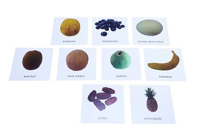 Nomenclature Cards - Fruit: Set 2 - Nomenclature Cards - Fruit: Set 2