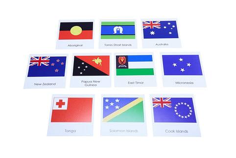 Nomenclature Cards - Oceania Flags - Nomenclature Cards - Oceania Flags