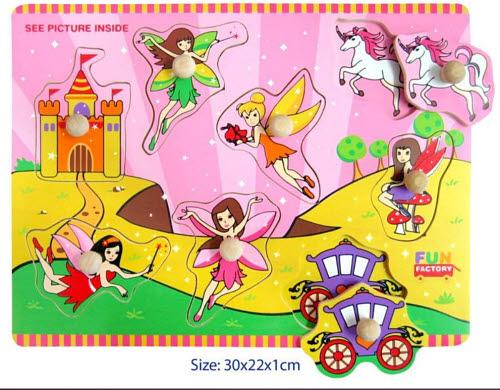 Puzzle With Knobs - Fairy - Puzzle With Knobs - Fairy