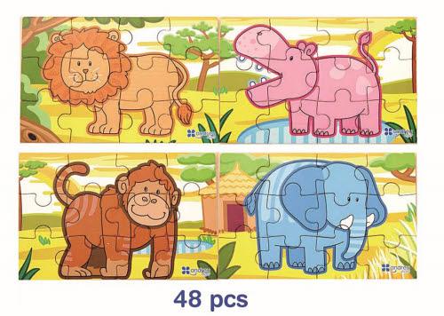 VG - Jigsaw Jungle 4 in 1 - VG - Jigsaw Jungle 4 in 1