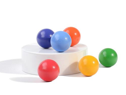 Rainbow Wooden Balls 6pc - Rainbow Wooden Balls 6pc