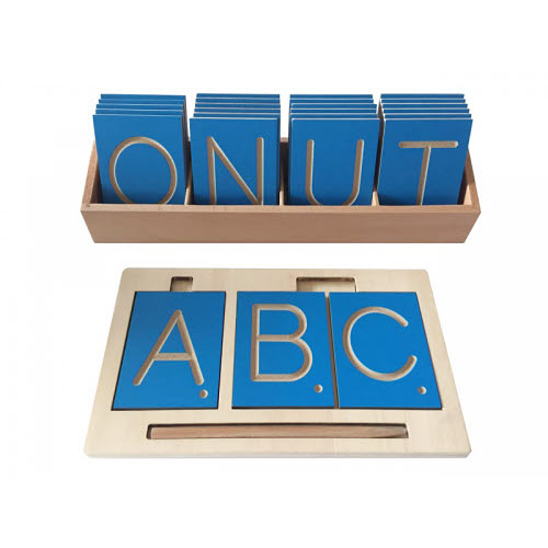 Grooved Upper Case Letters & Tray for Tracing - Grooved Upper Case Letters & Tray for Tracing