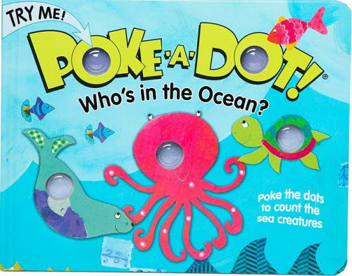 M&D - Poke-A-Dot - Who's in the Ocean Book -