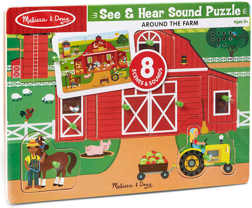 M&D - Around the Farm Sound Puzzle 8pc - M&D - Around the Farm Sound Puzzle 8pc
