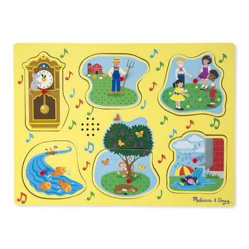 M&D - Nursery Rhyme Sound Puzzle - Yellow - 6pc - M&D - Nursery Rhyme Sound Puzzle -