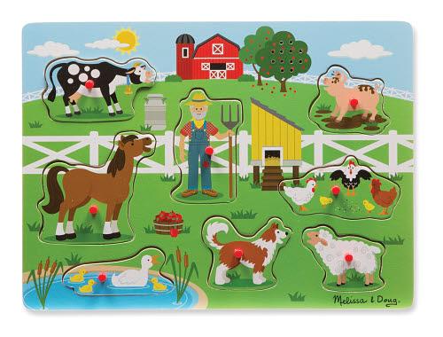 M&D - Old MacDonald Farm Sound Puzzle - 8pc - M&D - Old MacDonald Farm Sound Puzzle - 8pc