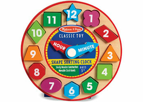 M&D - Wooden Shape Sorting Clock -