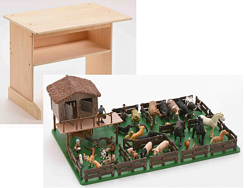 A Montessori Farm and Stand set - A Montessori Farm and Stand set