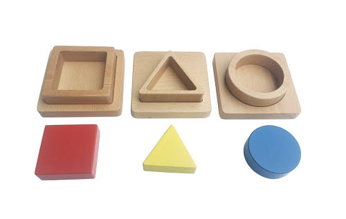 Inset Puzzle Circles, Triangle & Square - Inset Puzzle Circles, Triangle & Square