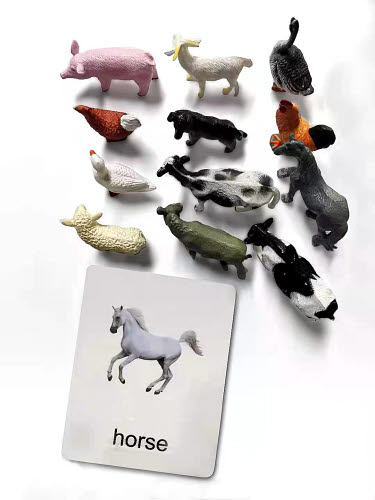 Farm Animals Miniatures with Corresponding Cards - Farm Animals Miniatures with Corresponding Cards