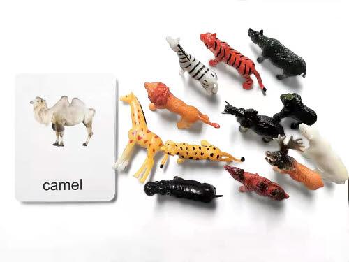 Wild Animals Miniatures with Corresponding Cards - Wild Animals Miniatures with Corresponding Cards