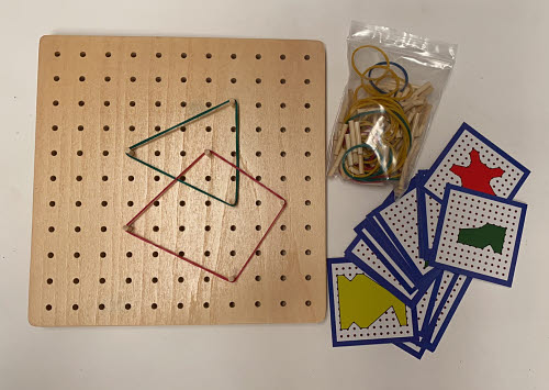 Geo Design Board & Cards Large size - Geo Design Board & Cards Large with Rubber Strings